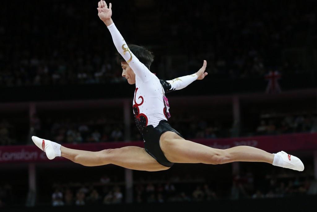 Uzbekistan's Oksana Chusovitina won gold in the vault