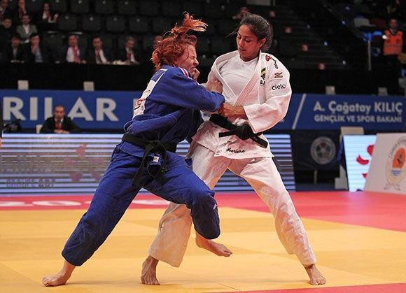 Margaux Pinot was one of two French female judoka to win gold medals on day two of the IJF Samsun Grand Prix ©IJF