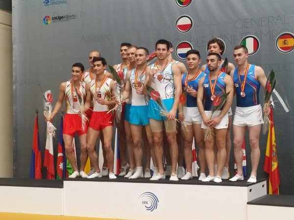Russia swept both double mini trampoline team event titles