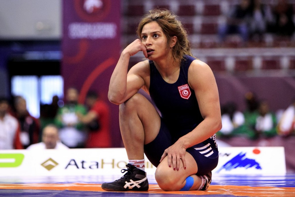 Marwa Amri of Tunisia qualified for a third Games ©UWW