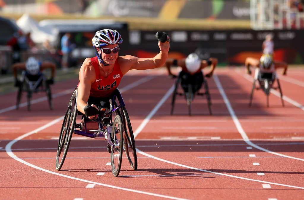 The United States' Tatyana McFadden is among the high profile names competing in Nottwil ©Getty Images