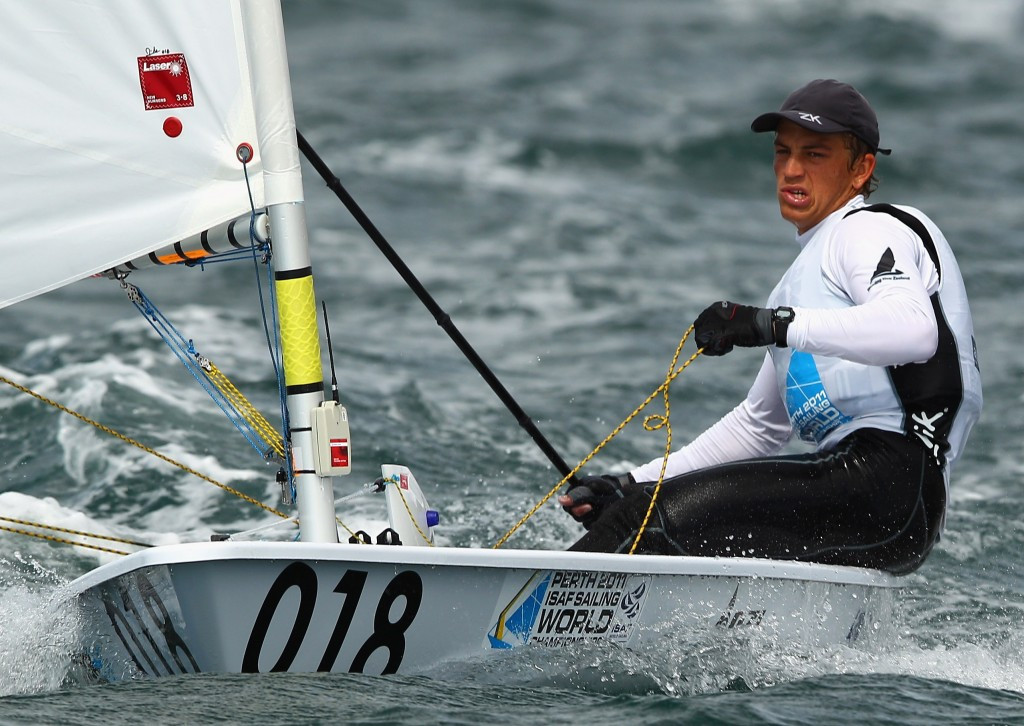 New Zealand's Andy Maloney claimed top honours in the laser