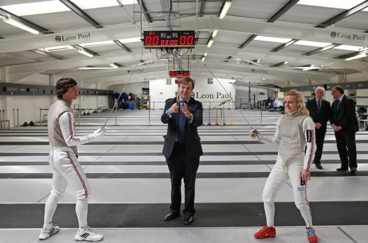 Marcus Mepstead (left) said British Fencing couldn't ask for better facilities than those provided by the Elite Training Centre
