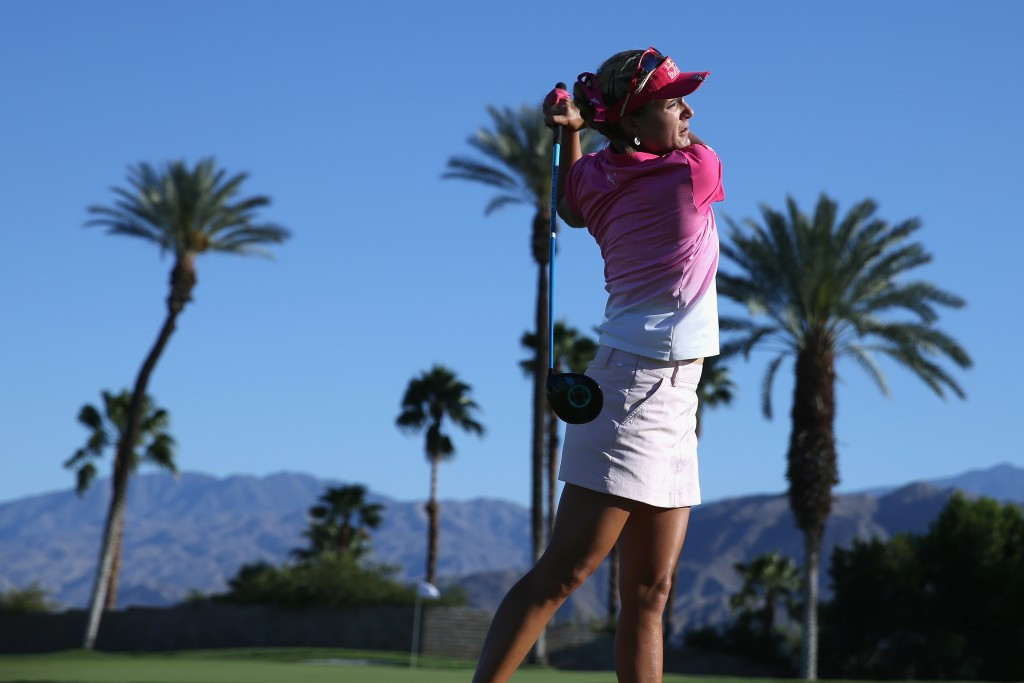 American Lexi Thompson retained her place at the summit of the ANA Inspiration leaderboard with an eagle put on the 18th ©Getty Images