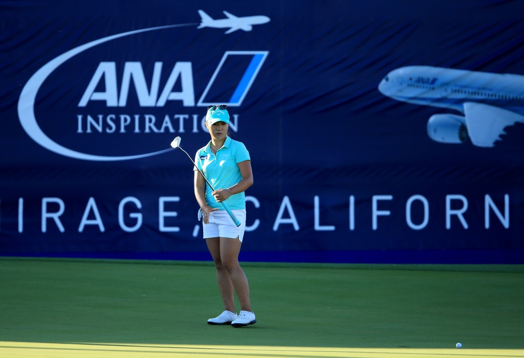 World number one Lydia Ko of New Zealand is well placed in the chasing pack on nine-under