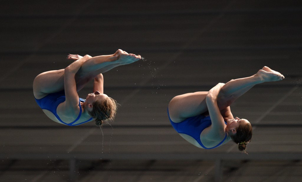 Abby Johnston (left) of the United States picked up two silvers in Puerto Rico