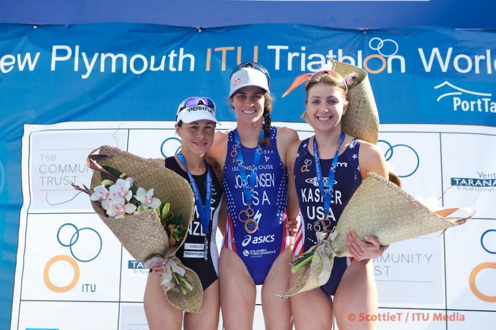 Gwen Jorgensen continued her superb form with victory ©ITU/ScottieT