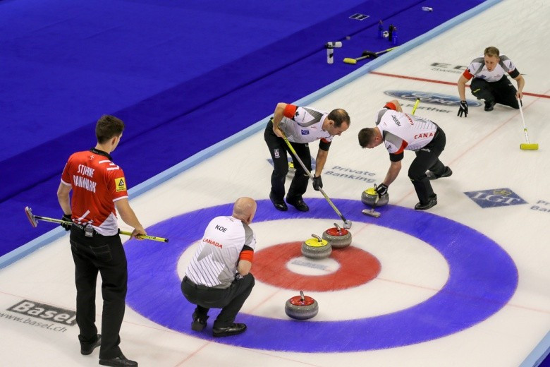 Canada and Sweden locked in two-way tie for lead at World Men's Curling Championship