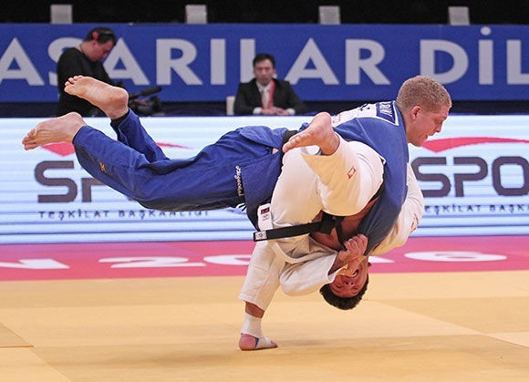 Georgia's Beka Gviniashvili has put himself on the brink of securing Rio 2016 qualification after winning the men's under 100 kilograms category on the final day of the IJF Samsun Grand Prix at the Yasar Dogu Sports Arena ©IJF