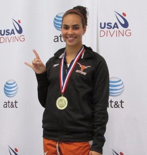American Murphy Bromberg briefly broke the Chinese dominance with gold in the women's 10m platform in Puerto Rico ©Twitter