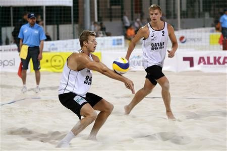 Norwegian duo qualify for main draw on successful opening day at FIVB Qatar Open