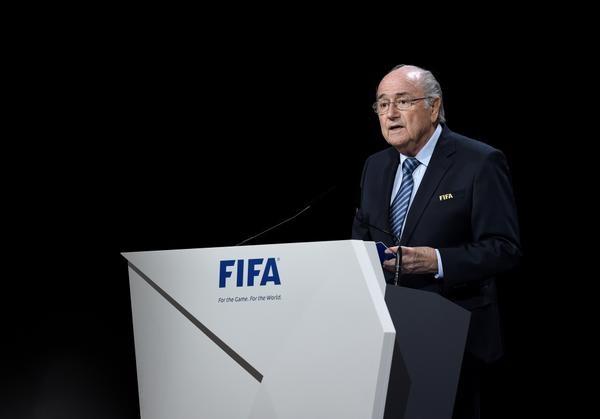 Sepp Blatter addressing the FIFA Congress this morning ©FIFA