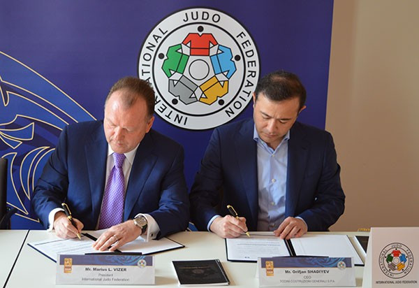 International Judo Federation sign official partner deal with Todini