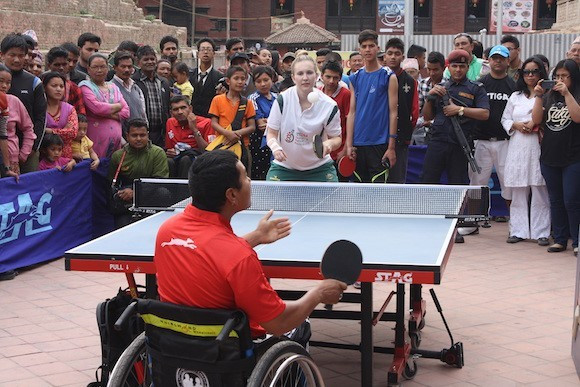 Kathmandu stages ITTF World Table Tennis Day event as new development project in Nepal is launched
