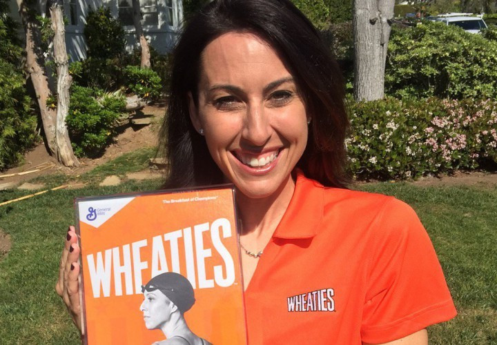 Los Angeles 2024 vice-chair Janet Evans will feature on the front of Wheaties boxes from next month ©Wheaties
