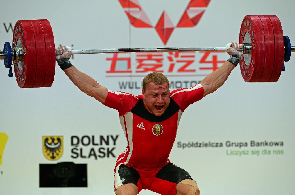 Double world champion and two-time Olympic silver medallist Andrei Rybakov of Belarus was the first weightlifter known to have tested positive for meldonium ©Getty Images