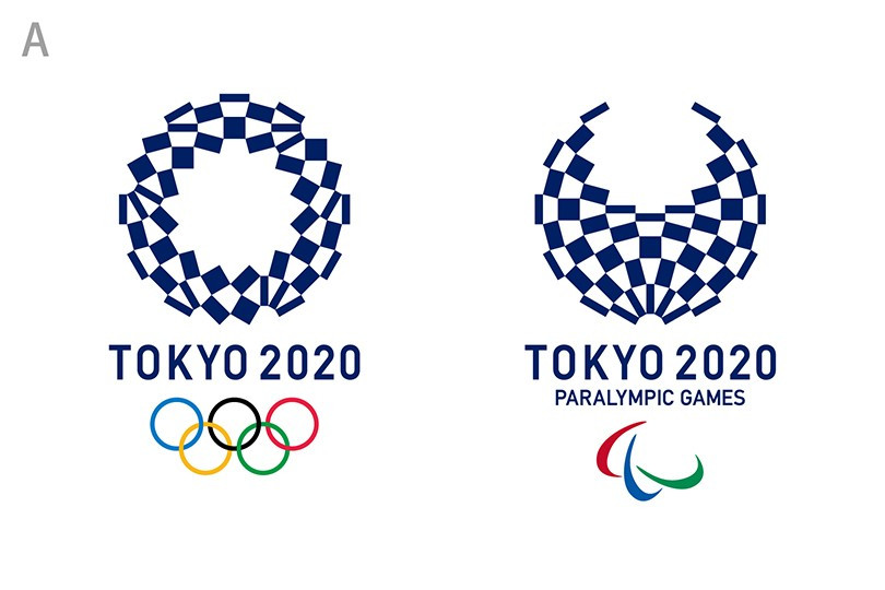Option A of the four Tokyo 2020 logo candidates - a harmonized chequered emblem ©Tokyo 2020