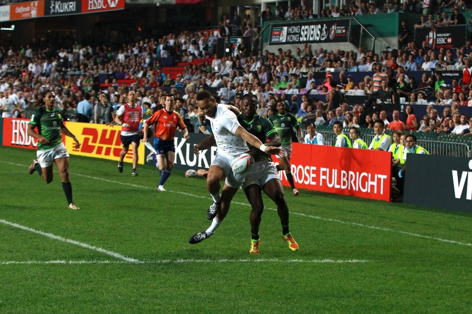 England surprise South Africa on opening day of Hong Kong Sevens pool competition