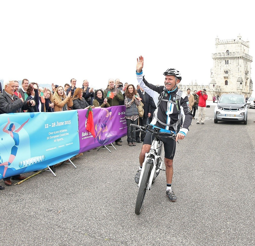 Olympic Committee of Portugal celebrate Inaugural European Games with sponsored cycle journey from Lisbon to Baku