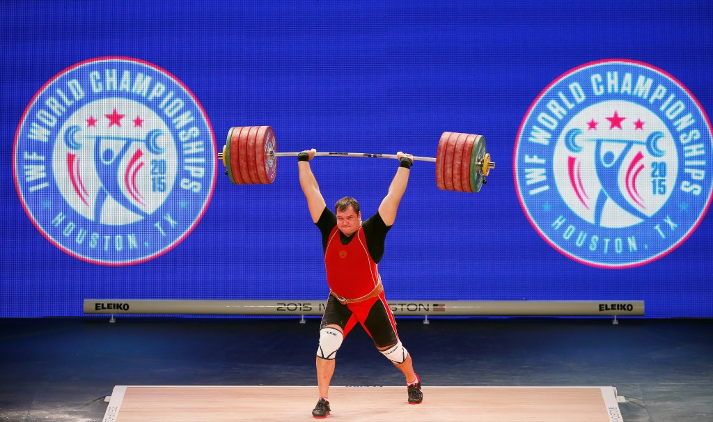 Russian super heavyweight Aleksei Lovchev was among those to fail a test at the 2015 World Championships in Houston