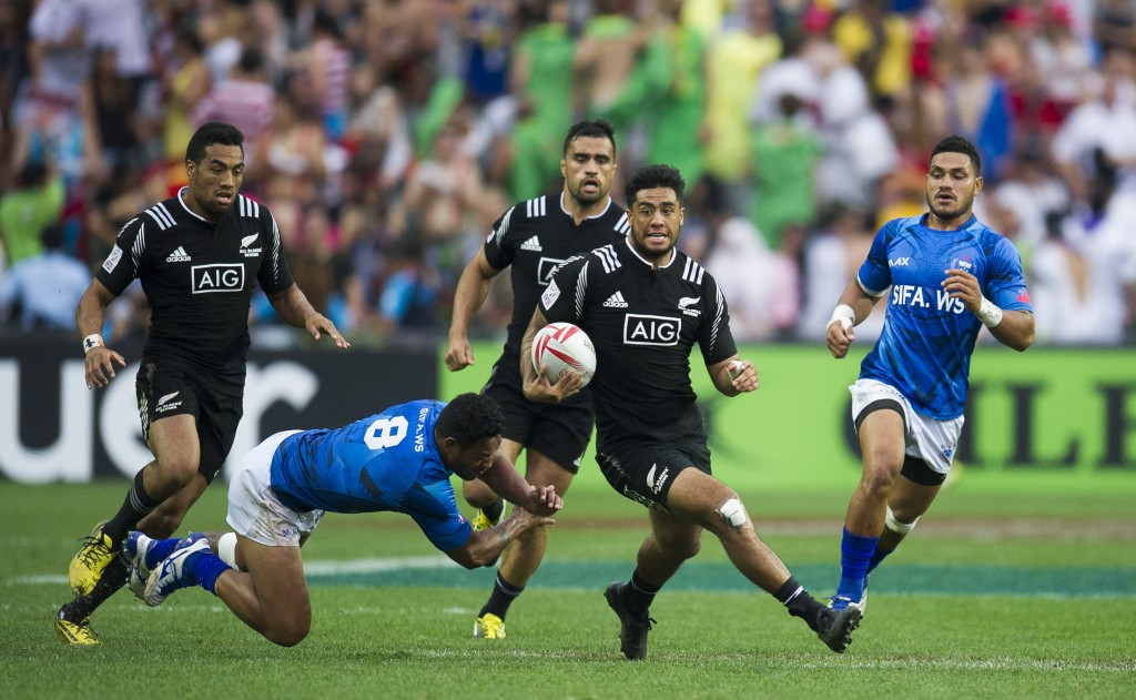 Action from the World Rugby Sevens Series Hong Kong tournament - a format that election contender Agustín Pichot believes will be vital to further grow the game worldwide ©Getty Images