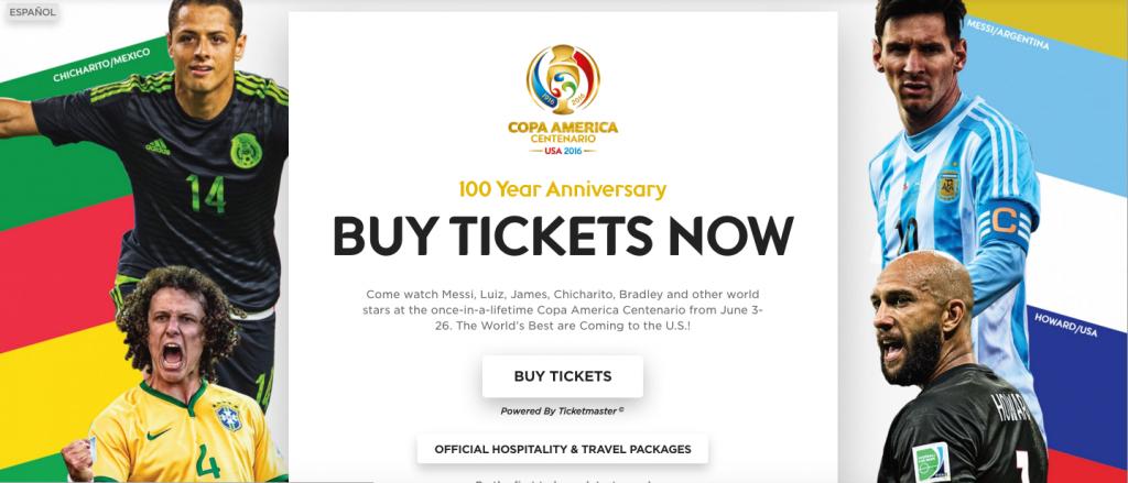 Neymar has been replaced by team-mate David Luiz (bottom left) on the Copa America Centenario website ©Copa America Centenario