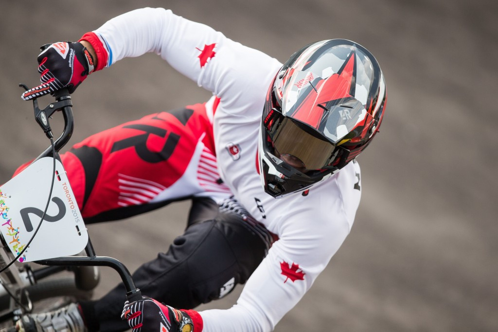 Canada's Tory Nyhaug made it back-to-back time trial victories in this season's UCI BMX World Cup after triumphing at the Manchester leg ©Getty Images