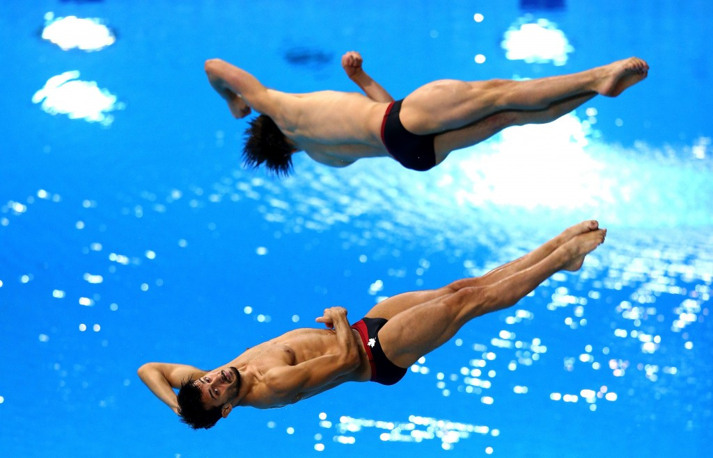 François Imbeau-Dulac and Philippe Gagné triumphed in the men's three metre synchronised springboard event