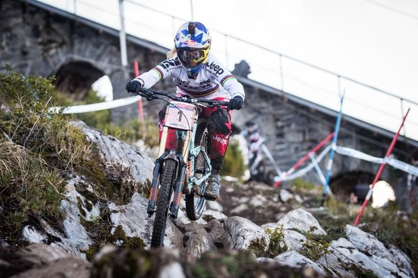 Rachel Atherton triumphed at the season opening Mountain Bike World Cup ©Twitter/UCI_MTB
