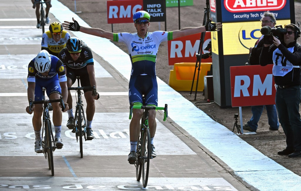 Belgium's Tom Boonen was denied a record fifth Paris-Roubaix title as Mathew Hayman pipped him on the line to become only the second Australian to win the famous race ©Getty Images
