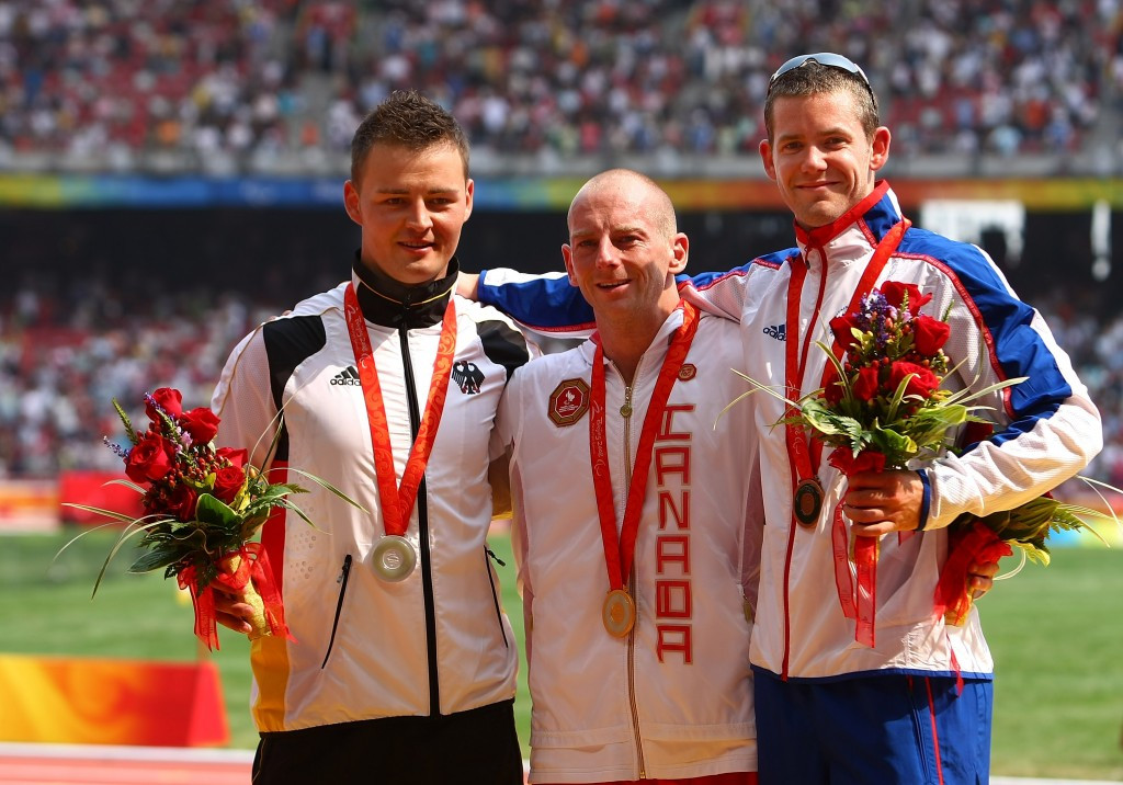 Earle Connor won his second Paralympic gold medal in the T42 100m at Beijing 2008 after returning from his first positive drugs test for nandrolone and testosterone ©Getty Images