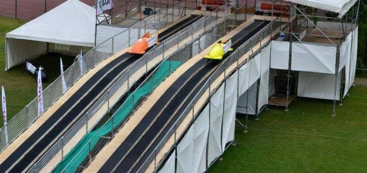 The Bobsleigh and Skeleton City Push Track Championships will take place on a 70 metre track at the Honourable Artillery Club in London on June 10 ©BBSA