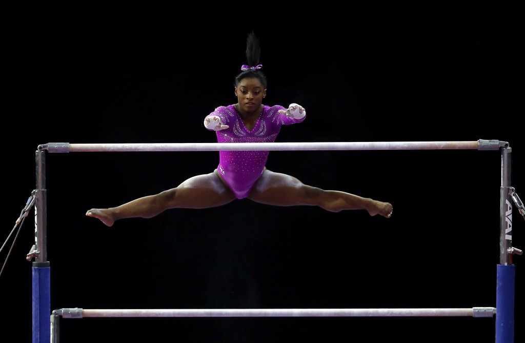 Biles marks return with all-around gold at Pacific Rim Championships