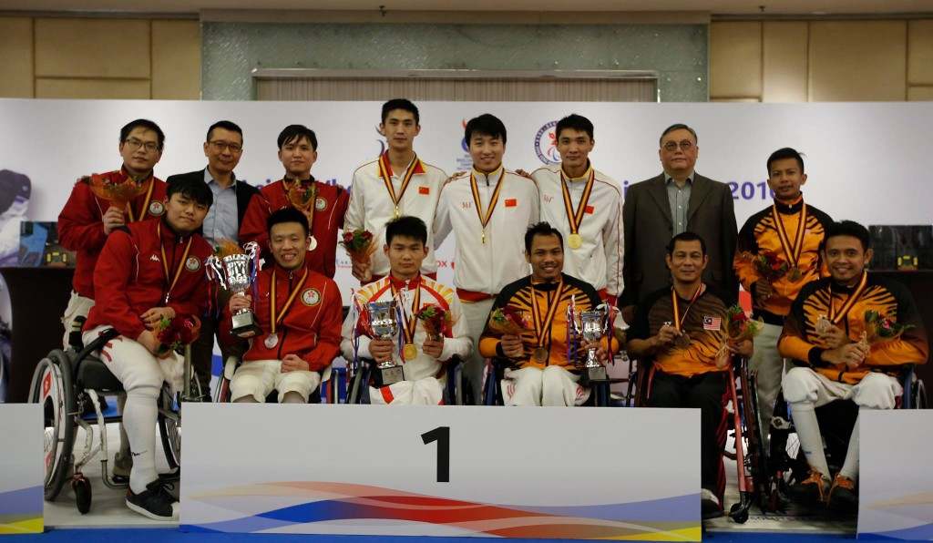 China won all three men's team events in Hong Kong