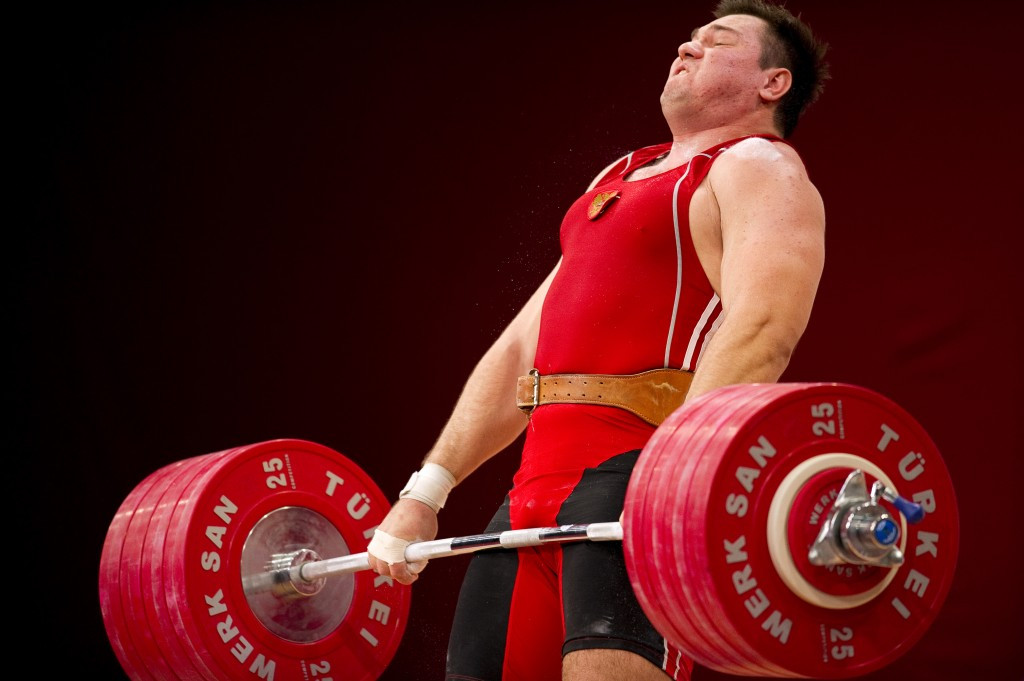 Russia's Aleksey Lovchev is among the most high profile weightlifters to have tested positive in recent months ©Getty Images