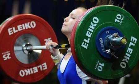 Romania's Cristina Iovu returned from a doping ban to win the gold medal in the 53kg category at the European Weightlifting Championships ©Getty Images