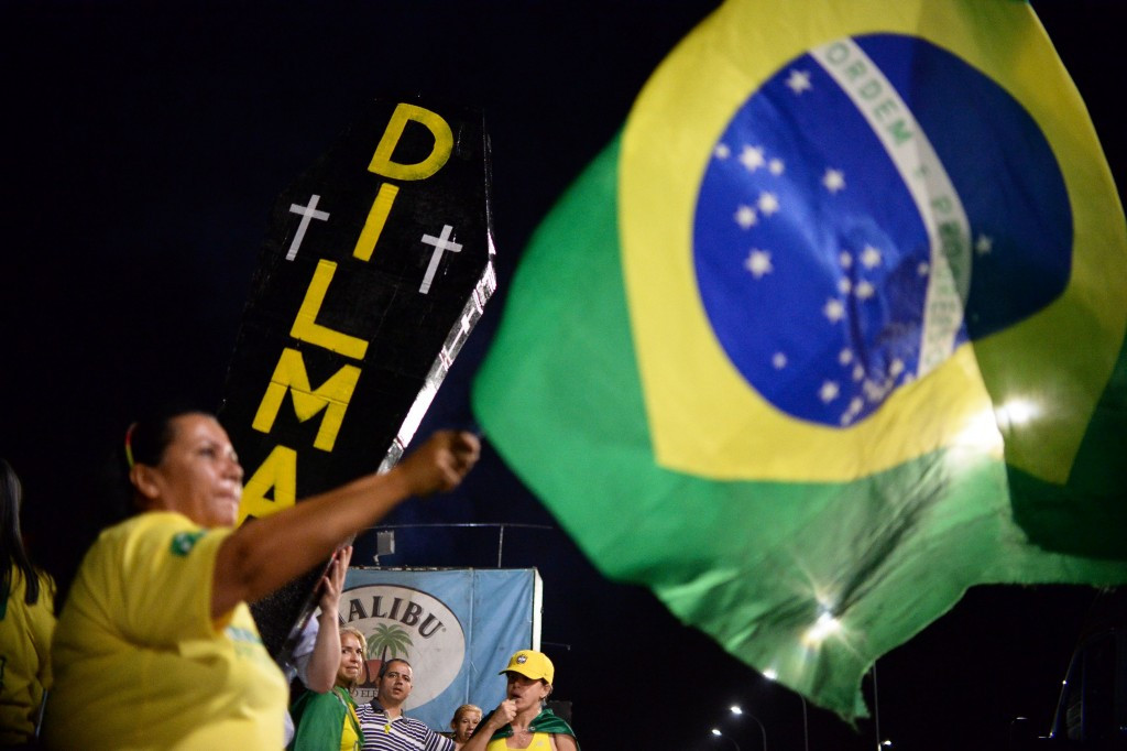Protesters have taken to the streets across Brazil both in support of, and in opposition to, Dilma Rousseff ©Getty Images