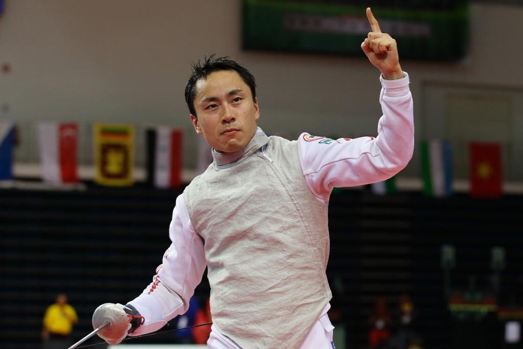Japan's Yuki Ota will be bidding to defend his men's individual foil title at the Asian Fencing Championships ©Getty Images