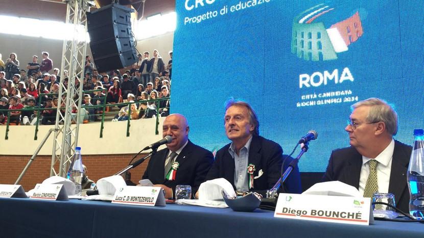 Rome 2024 President Luca di Montezemolo visited Crotone ©Rome 2024