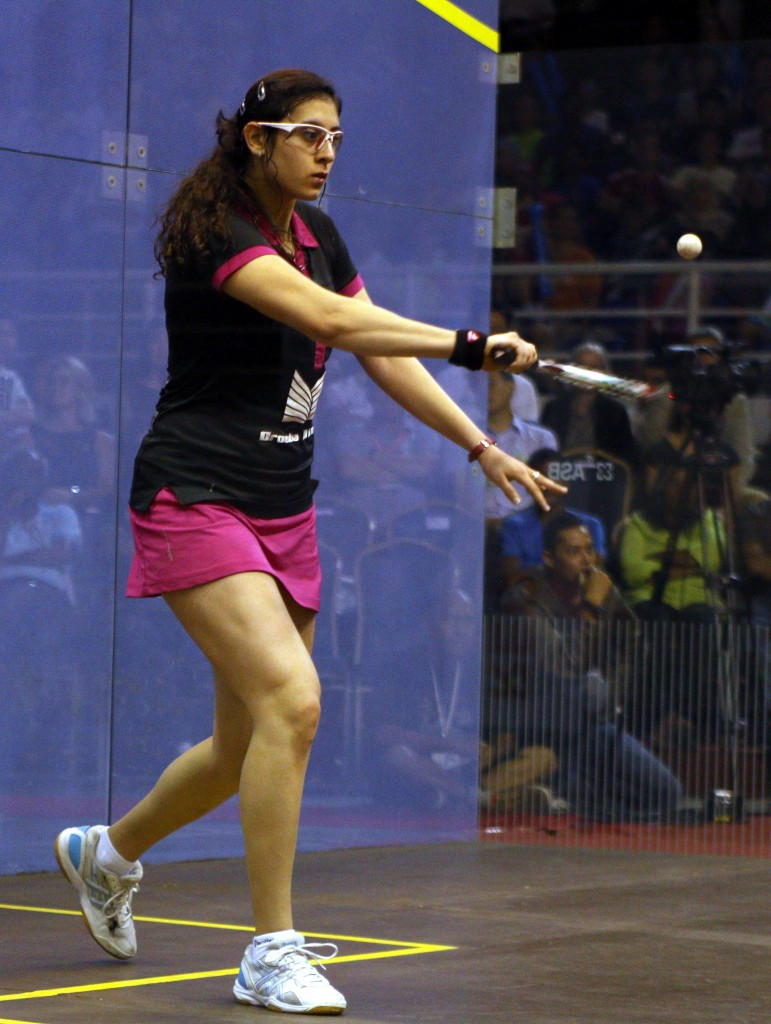 Egypt's Raneem El Welily awaits Amanda Sobhy in round two if the American beats a qualifier