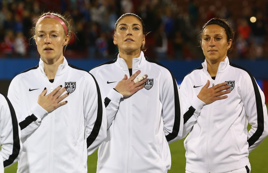 World Cup winner Becky Sauerbrunn has claimed five members of the team may boycott Rio 2016 ©Getty Images