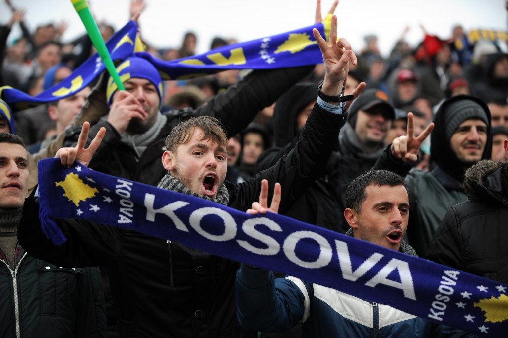 Kosovo are currently only able to play international football friendlies but their fans have shown plenty of passion ©Getty Images