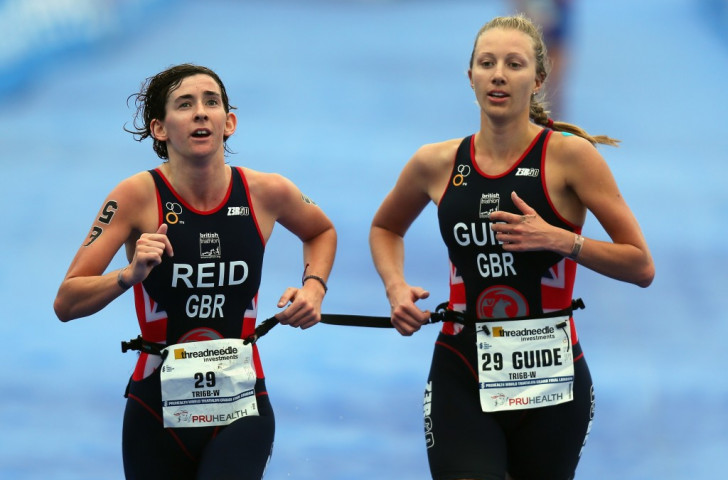 Melissa Reid (left) pictured competing at the ITU Grand Final in London in 2013 ©Getty Images