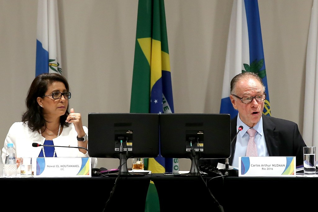 IOC Coordination Commission chair Nawal El Moutawakel and Rio 2016 head Carlos Nuzman spoke to open the meeting ©Getty Images