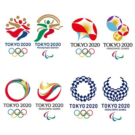 The shortlist for the Tokyo 2020 logo was revealed on Friday ©Tokyo 2020