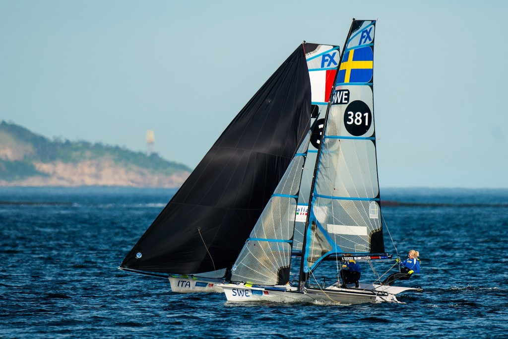 Italian duo move to top of 49erFX standings at European Championships