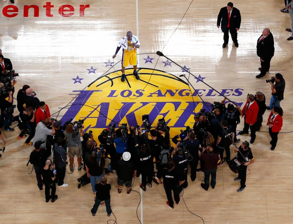 Kobe Bryant has been praised by Los Angeles 2024 bid leaders following the final game of his career ©Getty Images