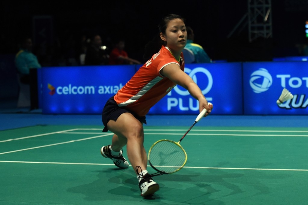 Women's number two seed Nozomi Okuhara of Japan was knocked out