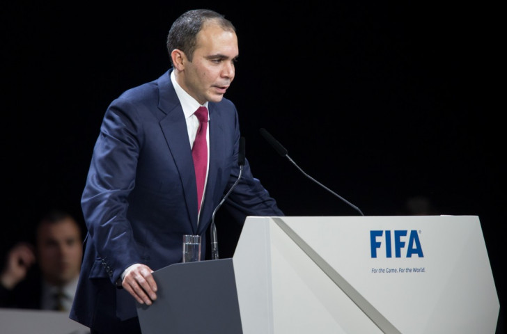 Prince Ali of Jordan conceded defeat despite denying Sepp Blatter a first round victory in Zurich ©Getty Images