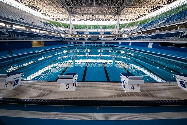The Rio 2016 swimming test is due to begin in the freshly opened Rio 2016 Aquatics Centre ©Rio City Government